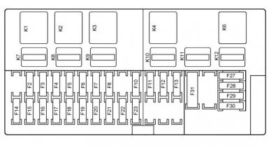 Схема блока предохранителей Приоры люкс