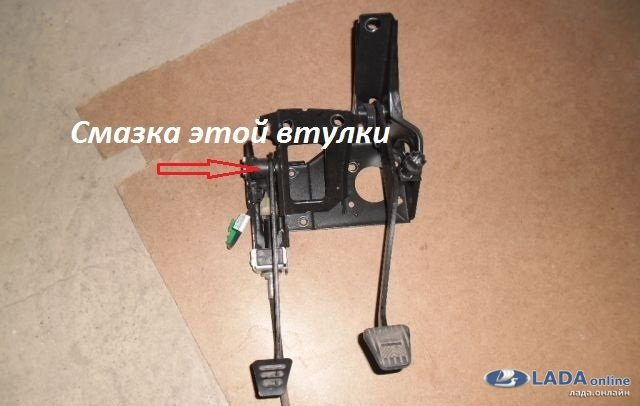 1436262342 vtulka - Тугая педаль сцепления лада гранта