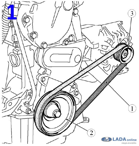 Замена ремня генератора в автомобиле lada на