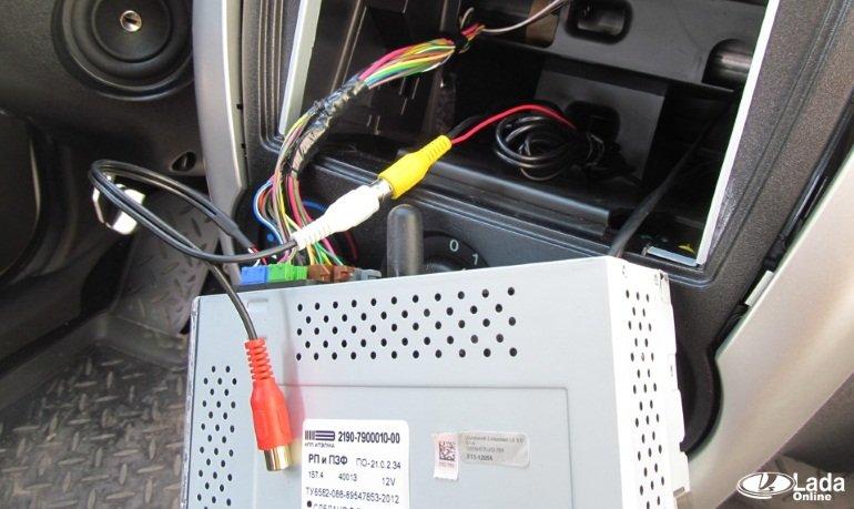 Калина схема подключения магнитолы фото 386