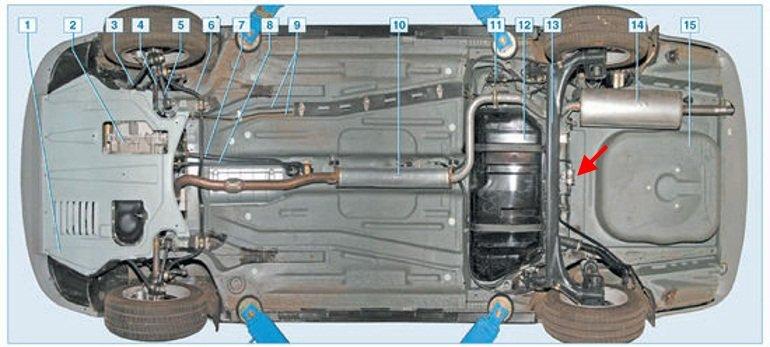 Где находиться топливный фильтр приора