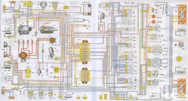 Схема электрооборудования ВАЗ-