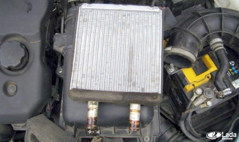 Замена радиатора на приоре с кондиционером своими руками фото 25
