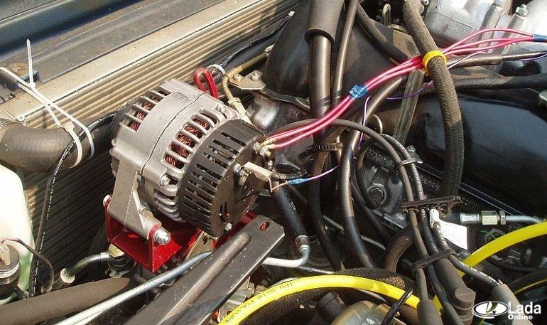 Чертежи переноса генератора наверх Нива (ВАЗ 21213, 21214)