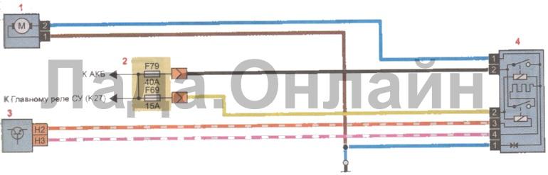 Схема электровентилятора системы охлаждения двигателя лада веста