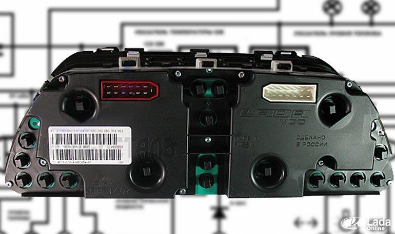 Схема и распиновка щитка приборов Нивы 4х4 (ВАЗ 2121, 2131) » Лада.Онлайн