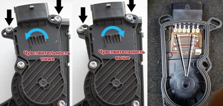 Электронная педаль газа ваз