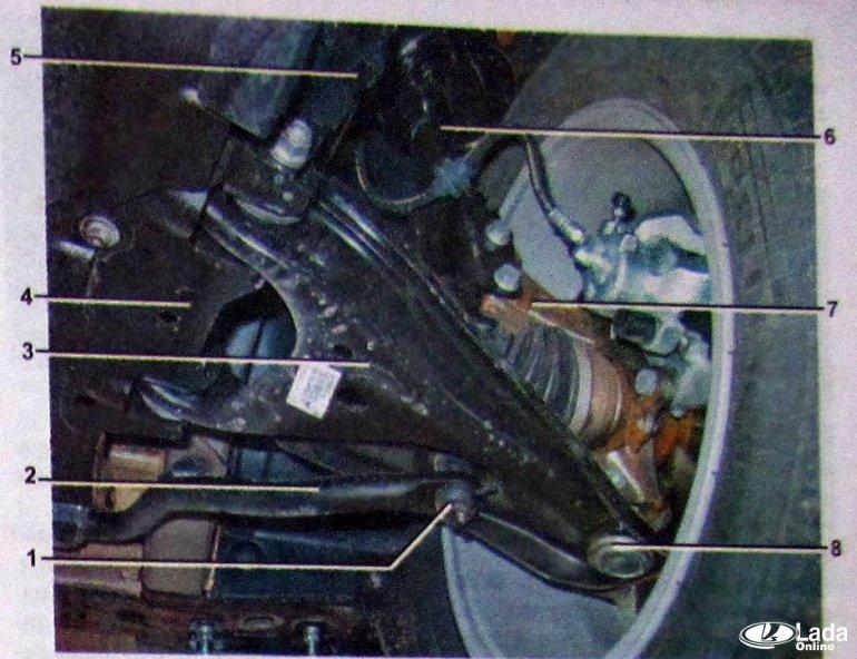 Схема передней подвески Lada XRAY