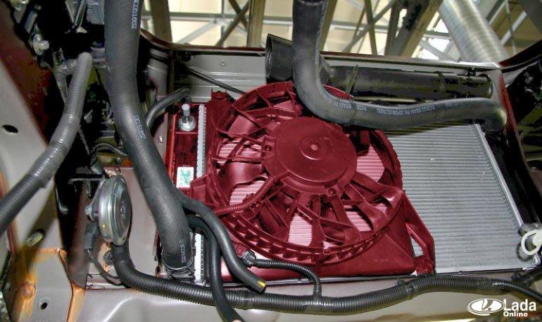 Работа термостата двигателя Лада Веста 21129
