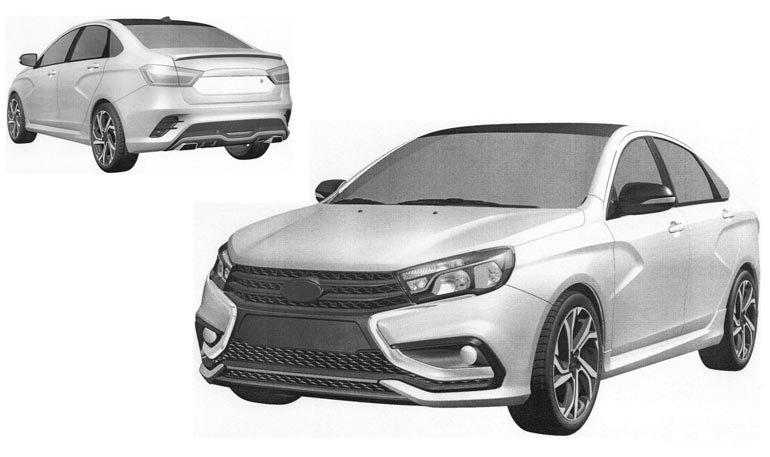 АвтоВАЗ запатентовал дизайн Lada Vesta Sport