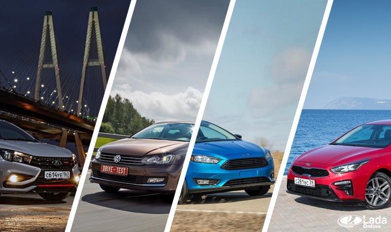 Сравнение Лада Веста с конкурентами Kia Rio и Hyundai Solaris
