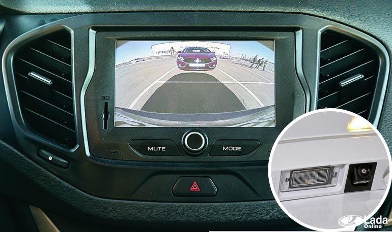 Камера заднего вида Лада Веста: штатная, установка, для автомобиля, СВ Кросс, в плафон, способы проводки, оригинал, своими руками