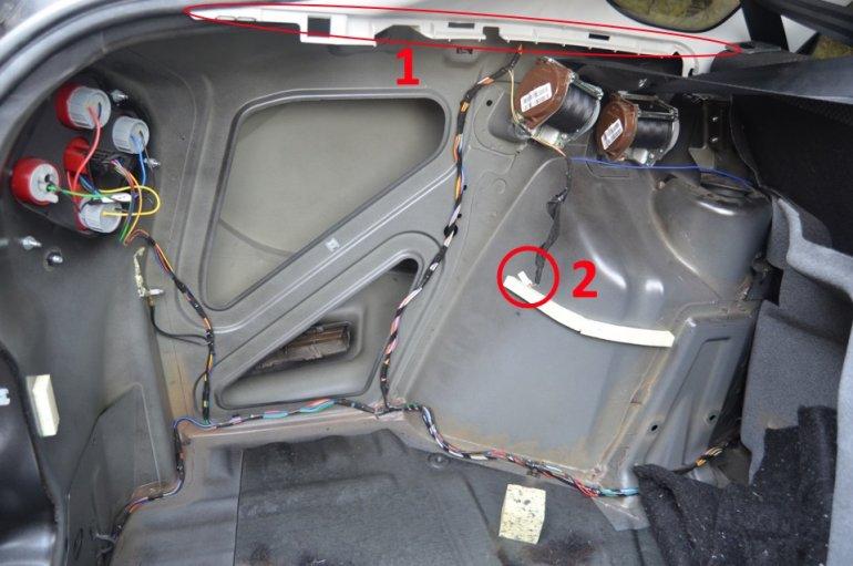 Порядок снятия правого пластикового элемента багажника гранты лифтбек