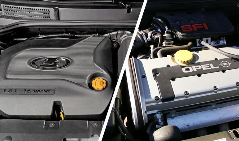 Современный двигатель ВАЗ оказался хуже мотора Opel 20-летней давности