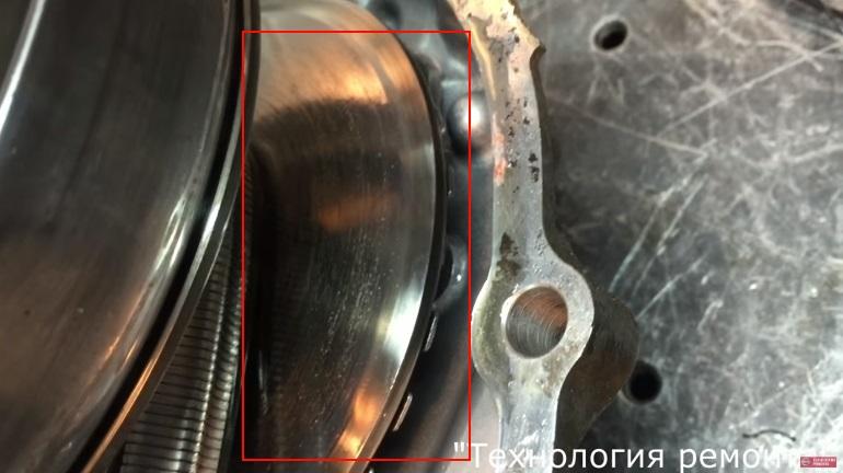 Износ тарелок конусов вариатора