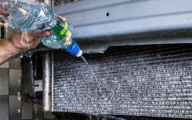 Как почистить радиатор охлаждения двигателя щеткой