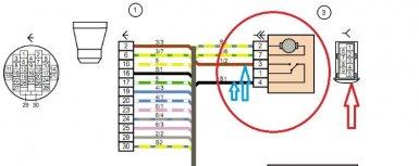 схема замка передней правой двери Лада Гранта и Калина
