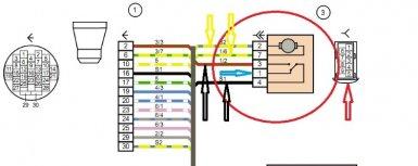 схема замка передней левой двери Лада Гранта и Калина