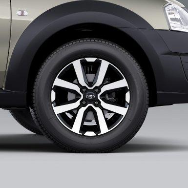 Оригинальные колесные диски (черный лак и алмазная огранка)