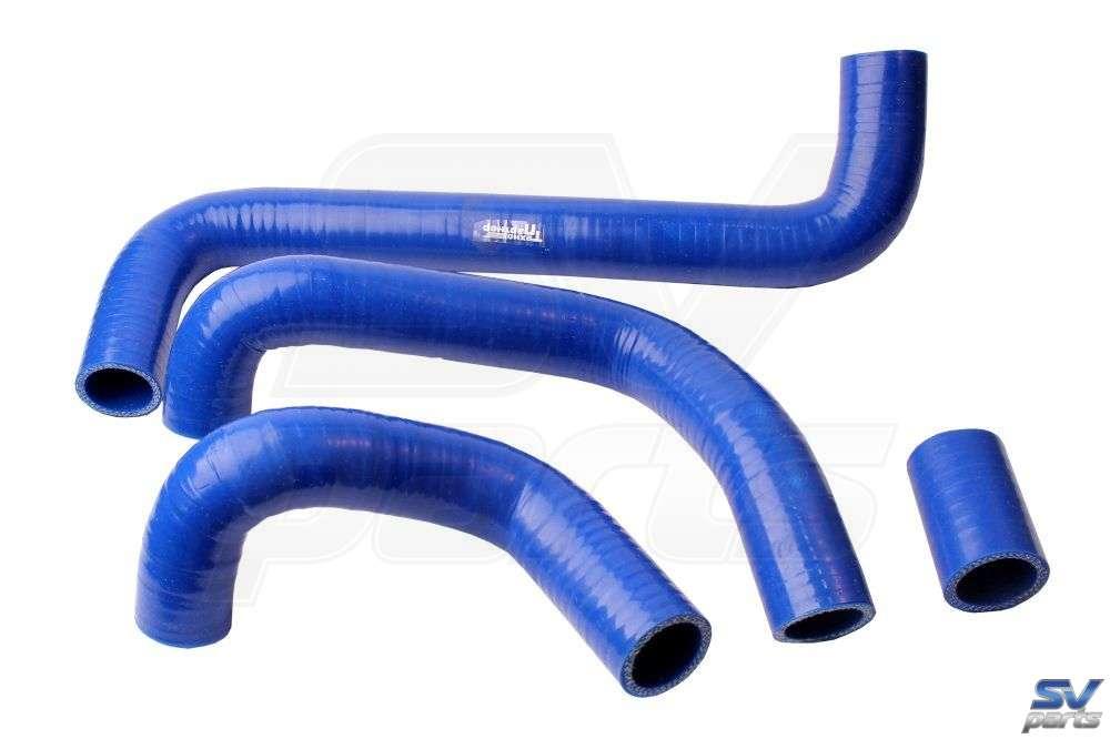 Купить Патрубки отопителя армированные силиконовые синие (4 шт) для Lada Niva 4x4 по цене 1215 рублей.